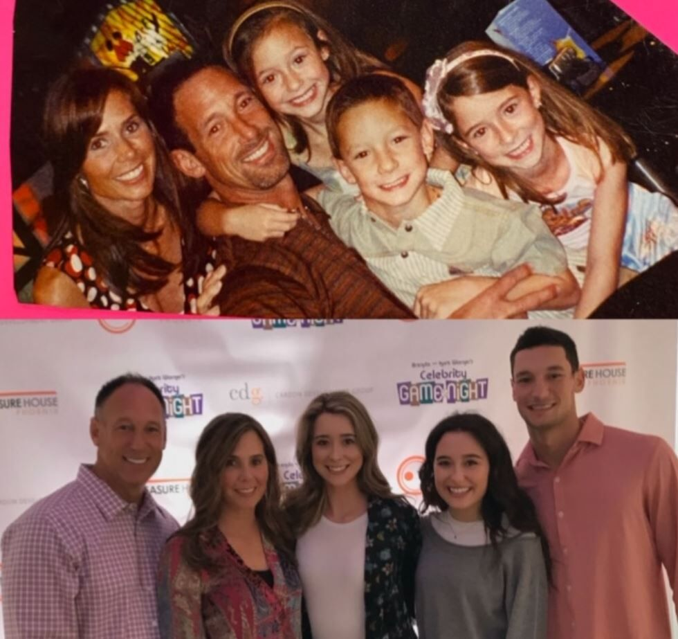 Diamondback all-star with his family in 2001 and now