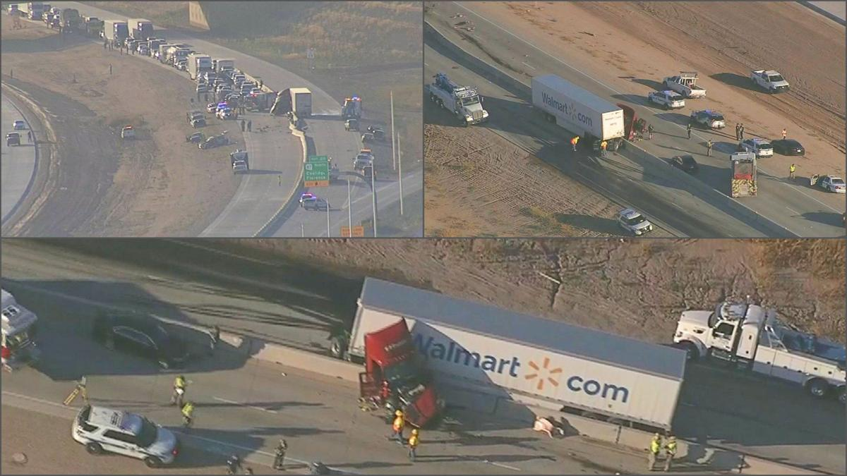 PHOTOS: Walmart semi involved in deadly crash on I-10 outside Eloy