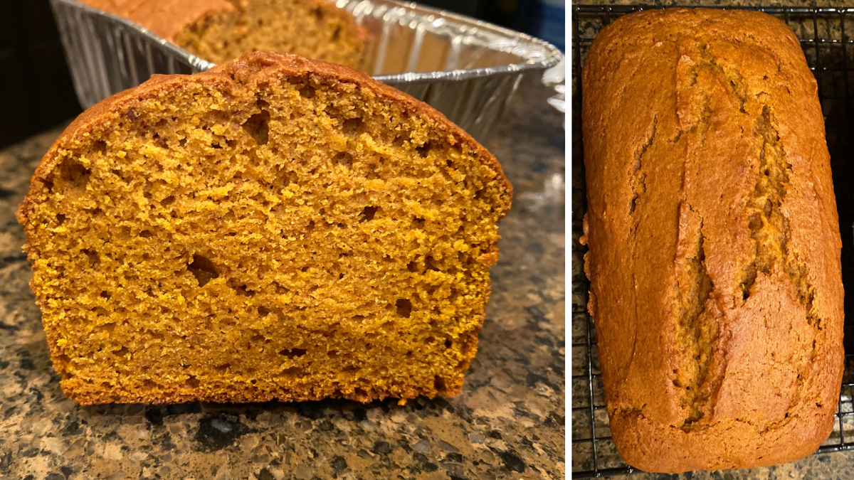 Make a pumpkin spice bread yourself that is way better than from the box