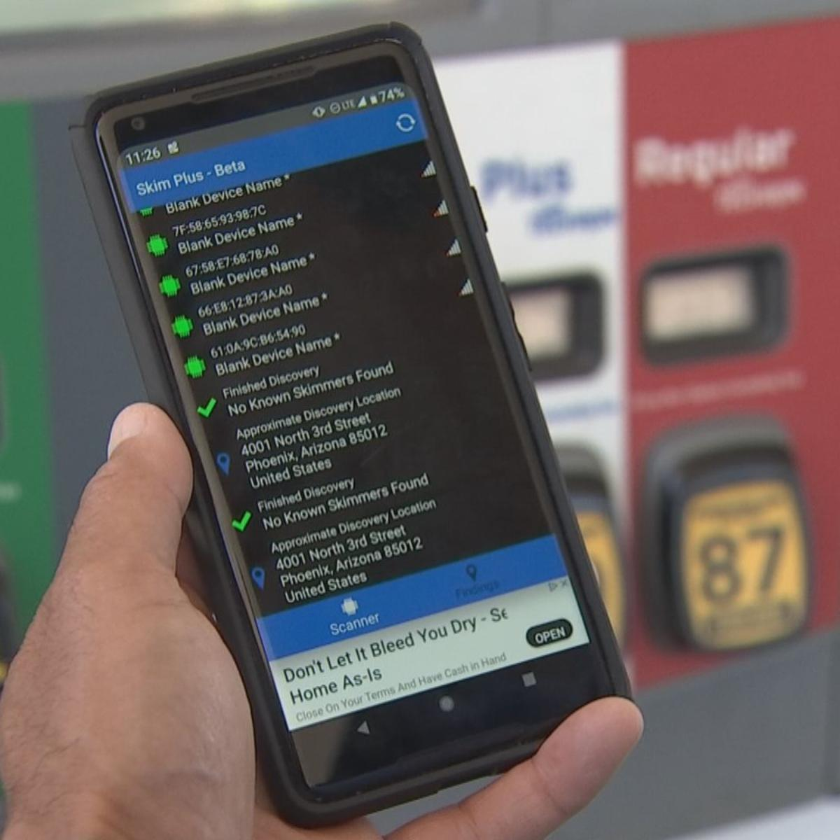 Drivers use smartphone apps to help detect credit card