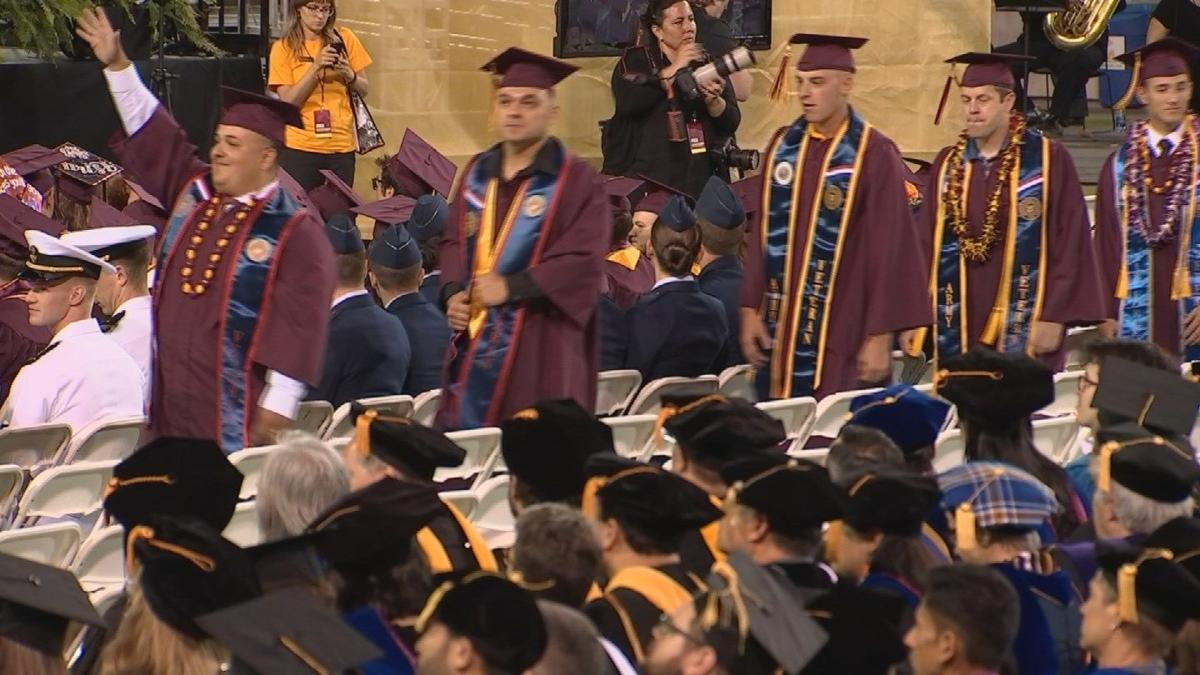 Thousands enjoy ASU commencement under mostly dry skies