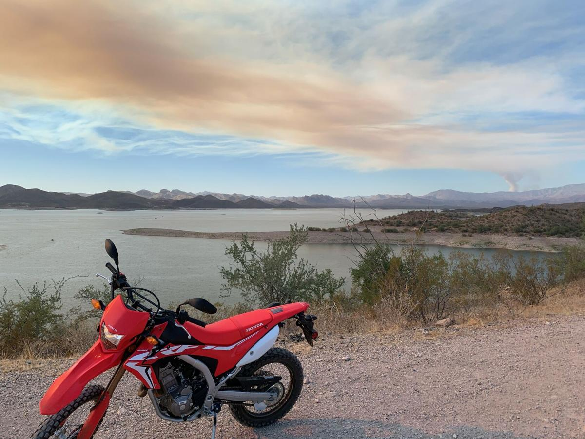 Mulch fire burning south of Lake Pleasant