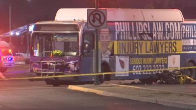 Motorcycle rider killed after crashing into bus, police say