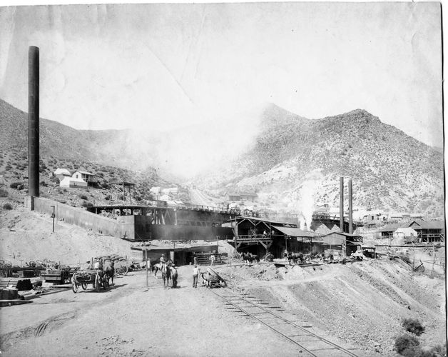 Smelter at the Christmas mine