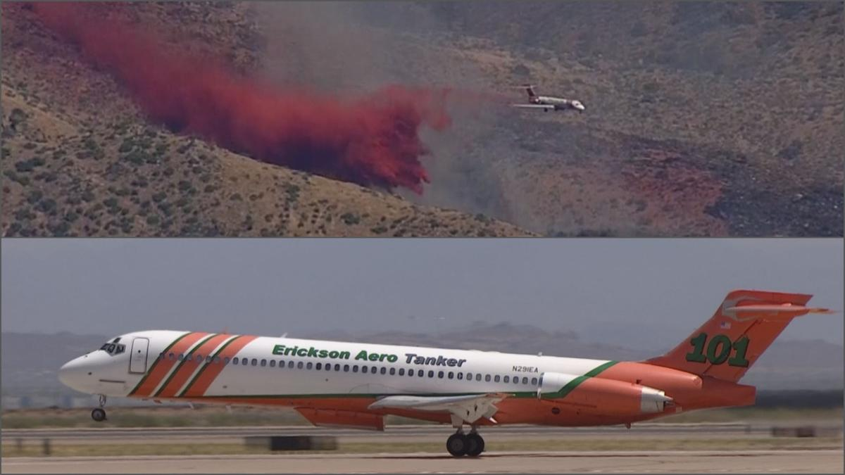 Air tankers critical to fighting Woodbury Fire