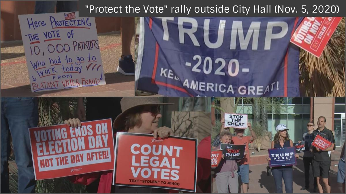'Protect the Vote' rally outside Phoenix City Hall (Nov. 5, 2020)