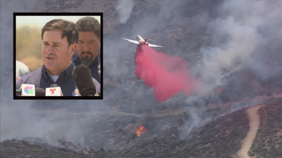 Ducey wildfires