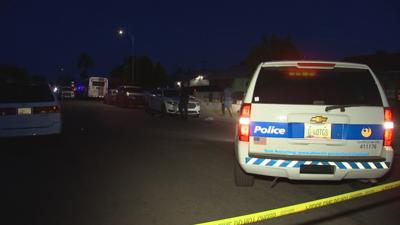 Phoenix police on scene at an overnight shooting