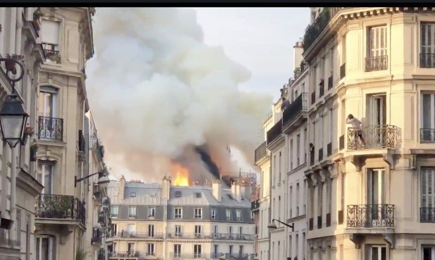Spire atop Notre Dame cathedral in Paris collapses in fire