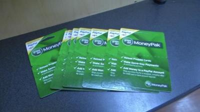 Scammers now using Green Dot MoneyPak cards