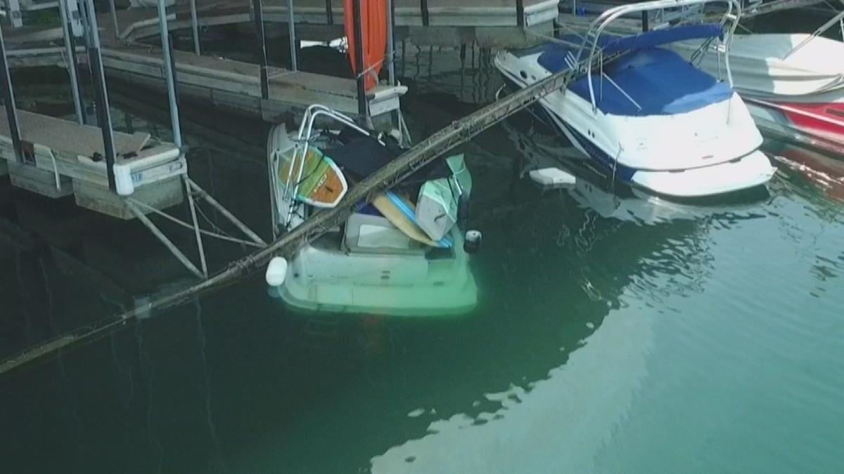 Docks, boats damaged at Lake Pleasant during strong storms