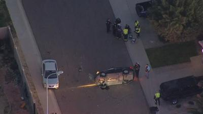 Teenage driver loses control, rolls over in Chandler