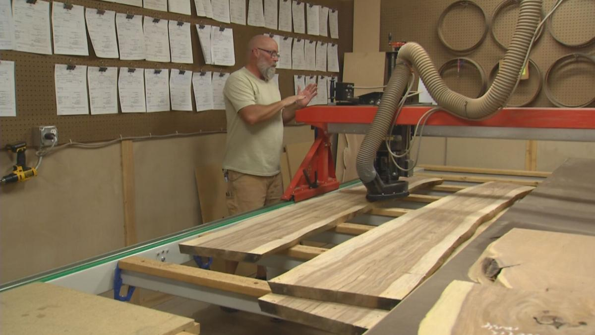 Recycling trees into furniture in Peoria