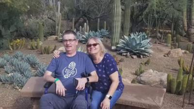 Dozens of masks and other items donated to Phoenix man with ALS and his wife