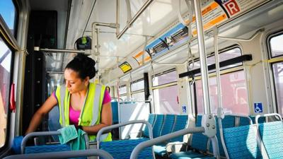 Valley Metro cleaning