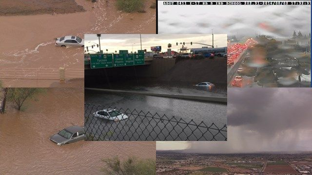 Monsoon flooding sparks Valley water rescues, closes I-17