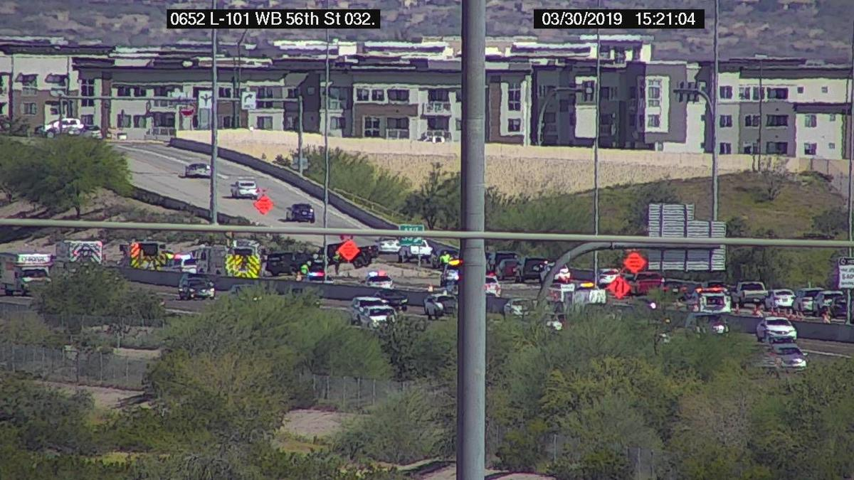 Loop 101 re-opens after deadly multi-vehicle crash in