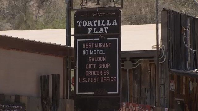 Old West town of Tortilla Flat attracts tourists from all over the world