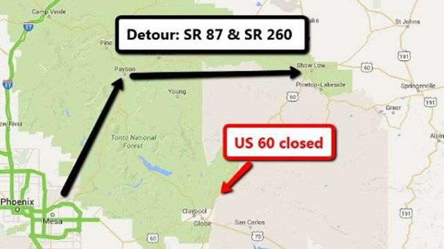 US 60 reopened northeast of Globe after fatal crash | Arizona News ...