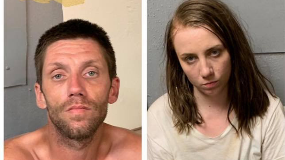 Mugshots of Jerry Kirkley and Melissa Gladden