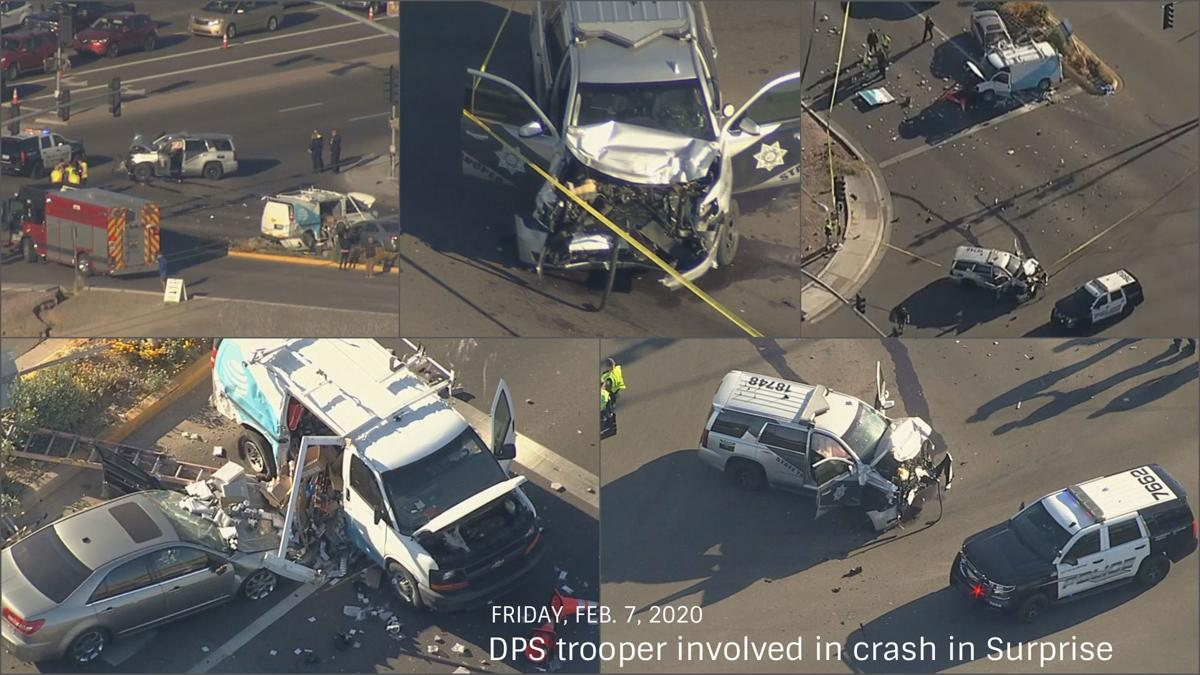DPS trooper involved in serious crash in Surprise