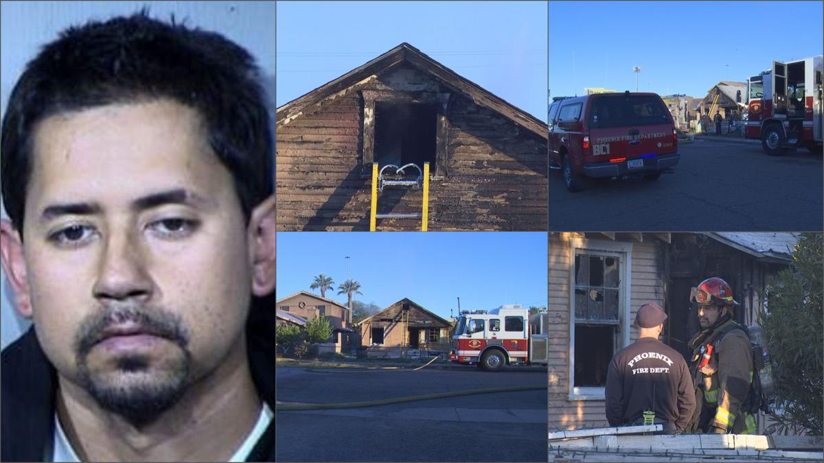 Phoenix man allegedly set fire to sister's house