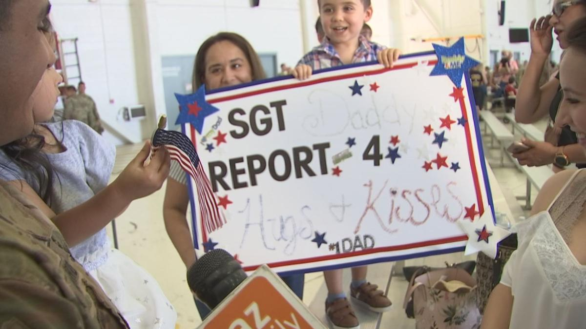 Families welcome Arizona citizen soldiers home from overseas