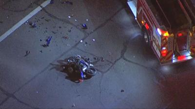 PD: Motorcyclist dies at hospital after crash in north