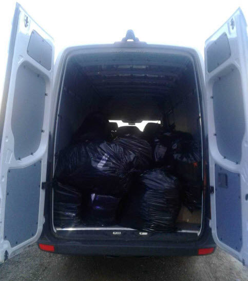 A search of the van revealed found dozens of large trash bags containing 1,113 pounds of marijuana.