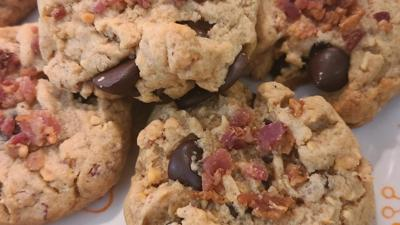 Peanut Butter Chocolate Chip Bacon Cookies