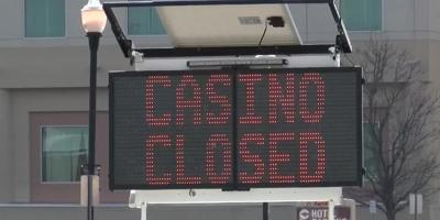 Casino closed sign