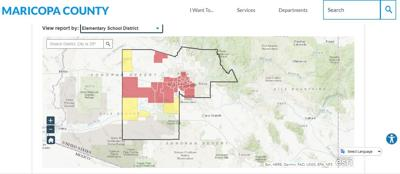 Maricopa County dashboard for safe school reopenings