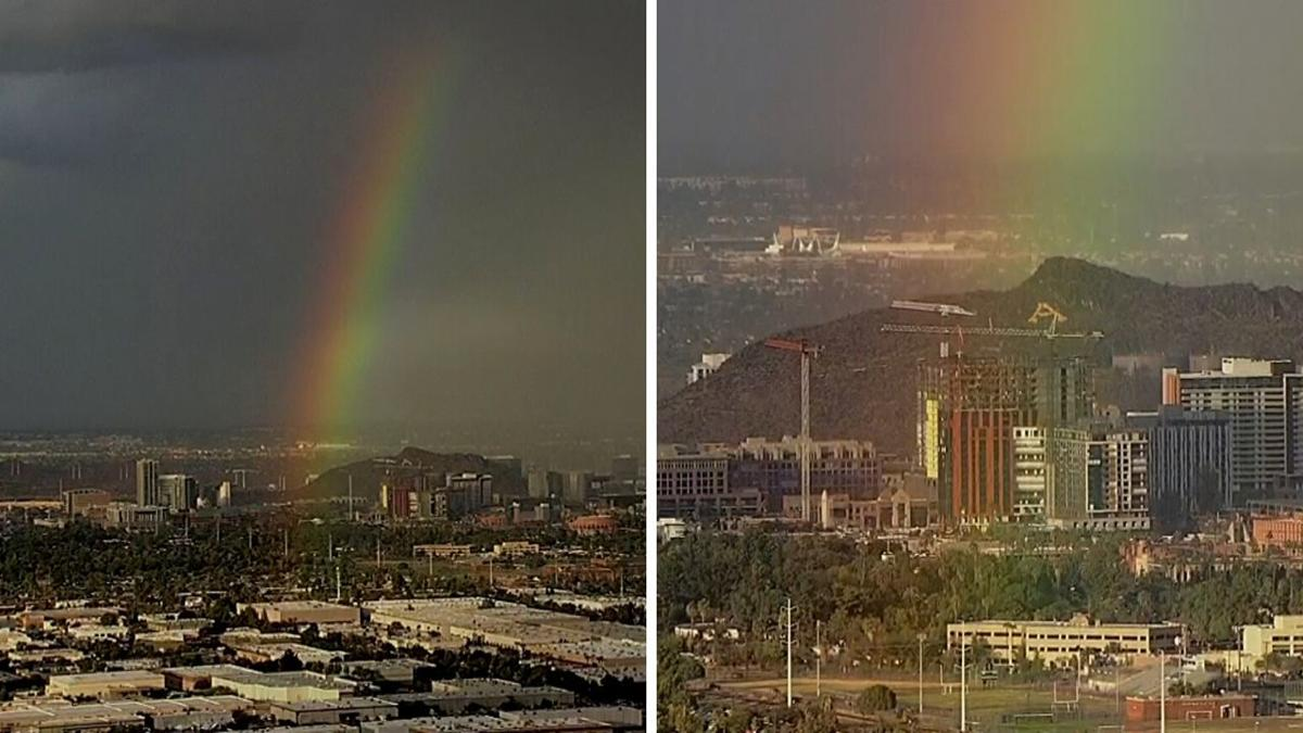 Chopper pic of Tempe rainbow