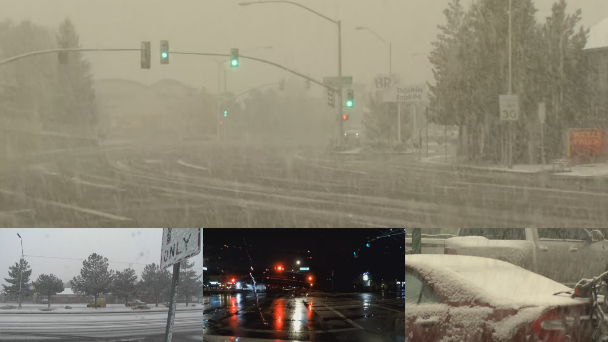 Snow in Arizona and rain in Phoenix