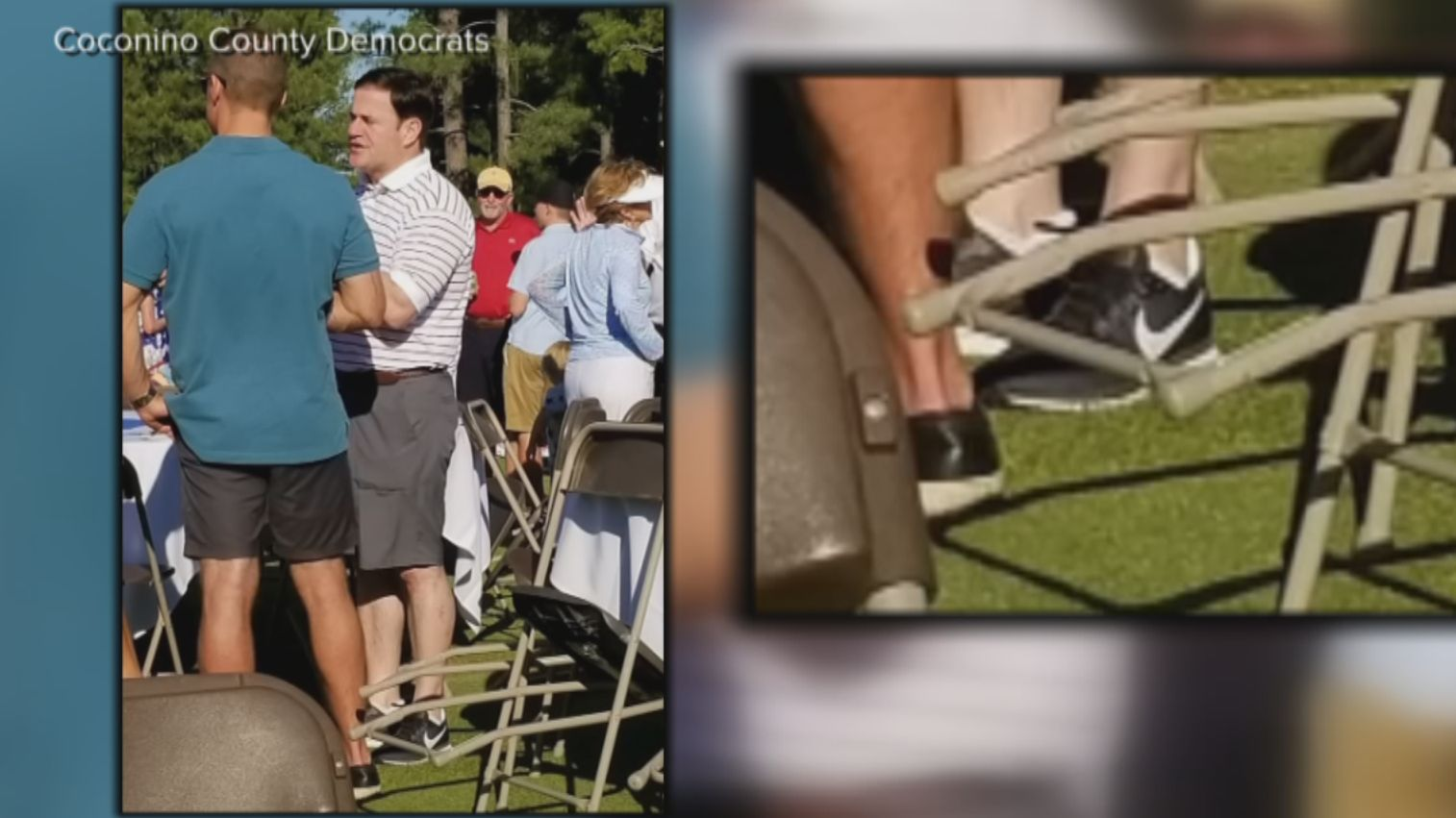 Gov. Ducey sports his Nikes on the
