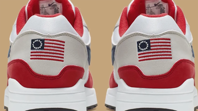 Nike flag-themed sneakers