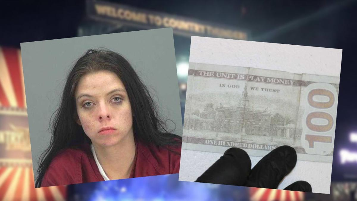 Woman accused of trying to pass off fake money at Country Thunder