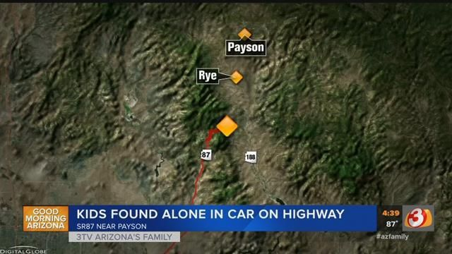DPS: Woman abandons 3 young daughters along remote highway south of Payson