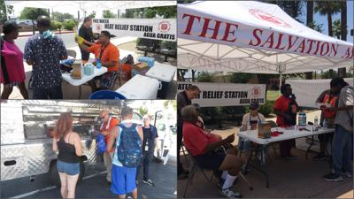 The Salvation Army heat-relief stations