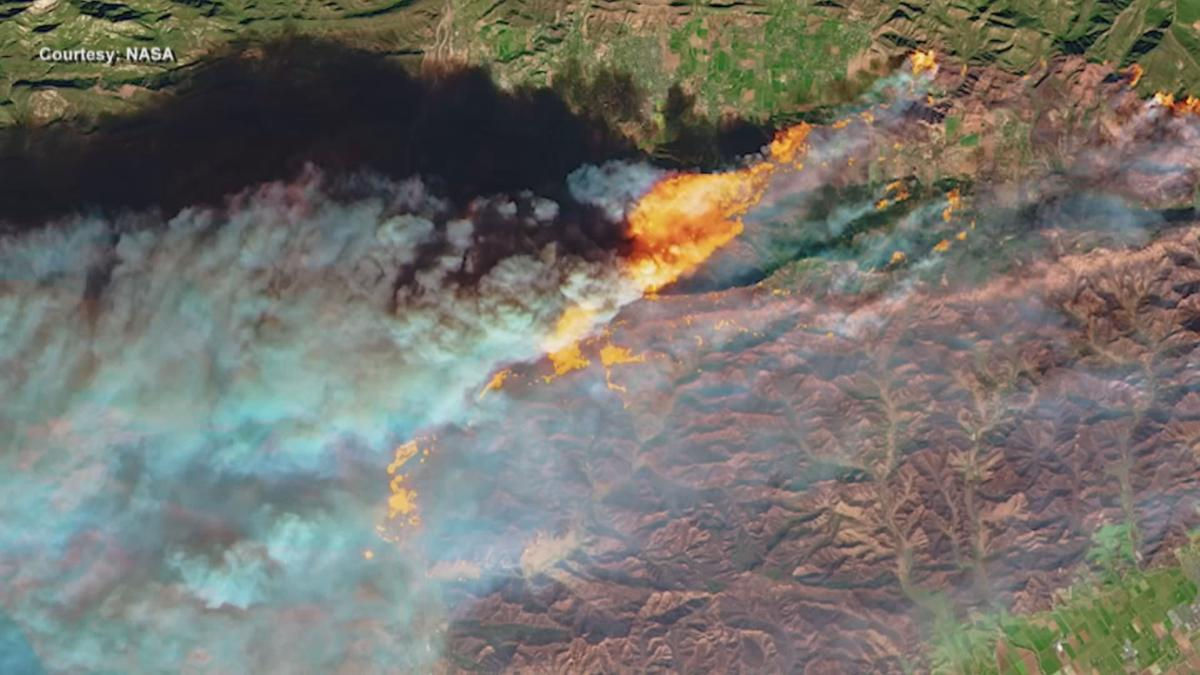 NASA tracks wildfires from space