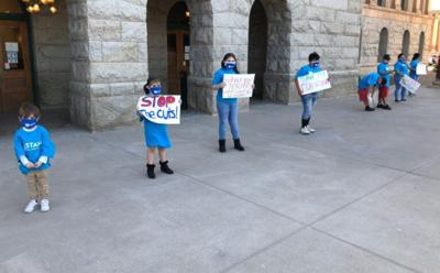 """""""Invest in Ed"""" rally at the State Capitol"""
