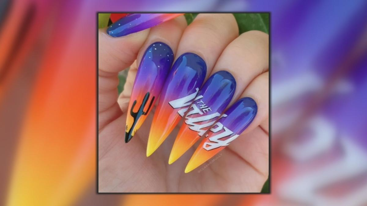 Rally the Valley Suns nails