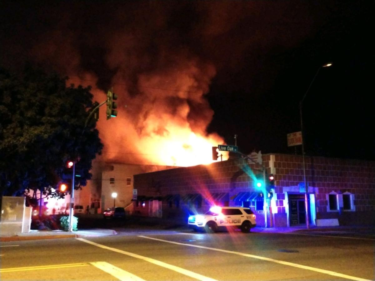 Miami structure fire overnight pictures