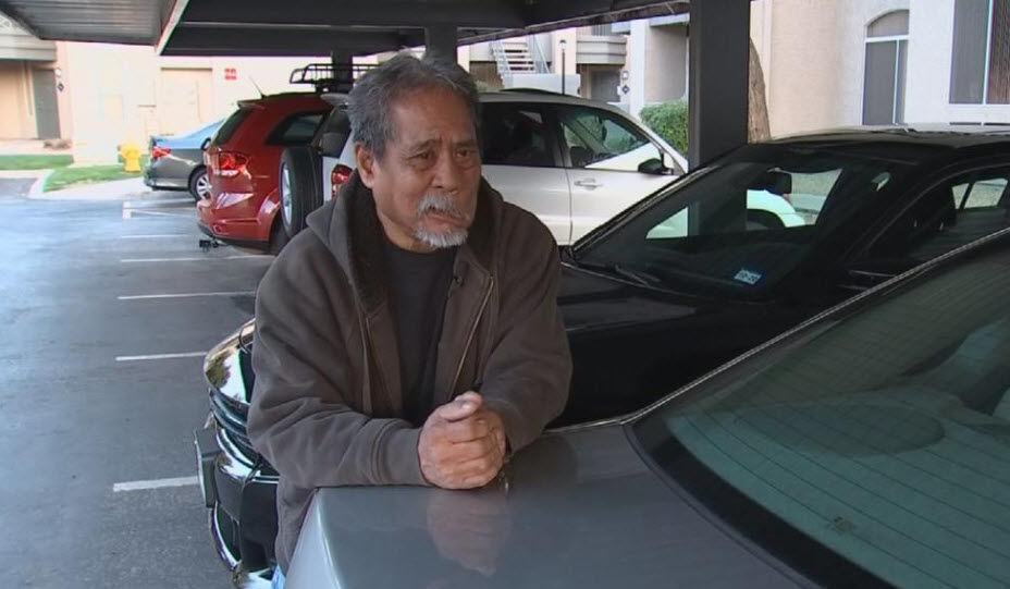 Uber Eats driver Ron Manuel was attacked and pistol-whipped Feb. 5