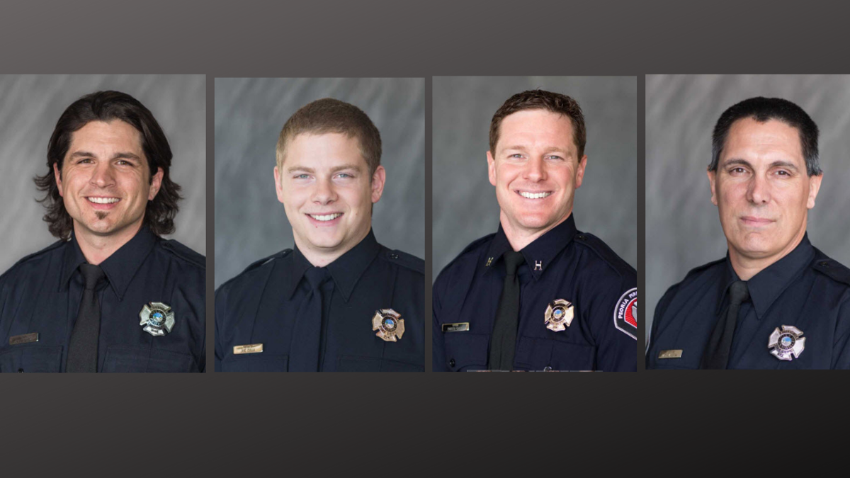 Authorities have identified the four Peoria firefighters who were injured after an explosion at an APS substation.