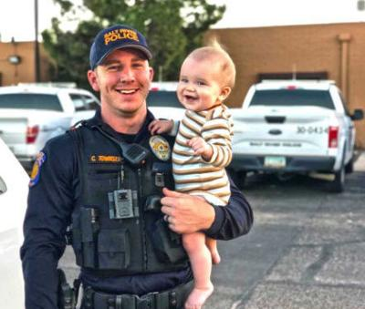 The family has given us this photograph of Officer Townsend and his son