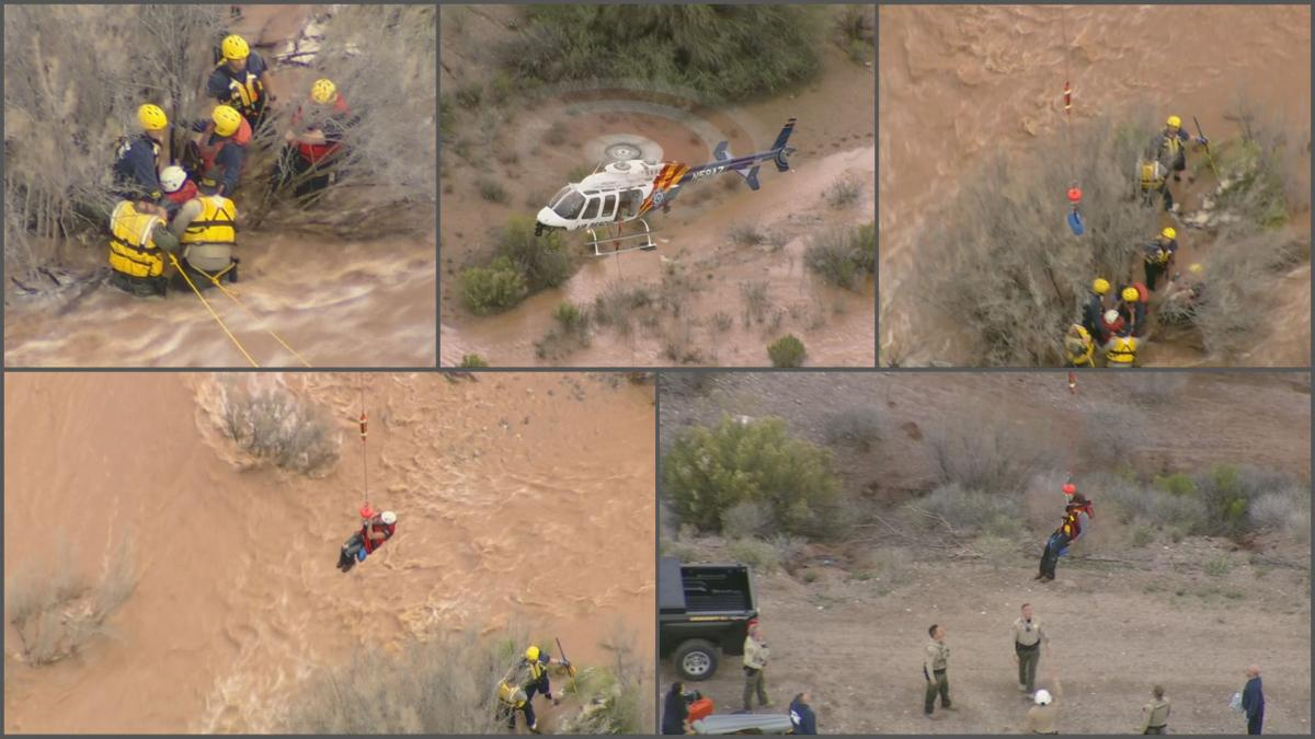 2 plucked from fast-flowing Queen Creek Wash in san Tan Valley