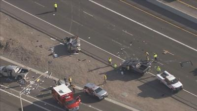 Rollover crash on Interstate 17 at Greenway Road