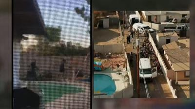 Neighbor captures human smuggling bust in Phoenix on video