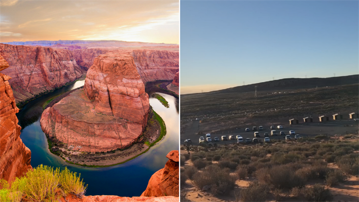 Parking near Horseshoe Bend is a major concern